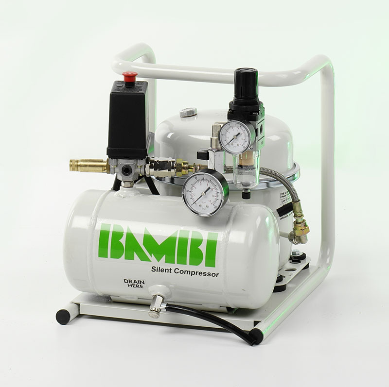 Bambi Md 35 20 Silent Compressor Aircomps Air Compressors