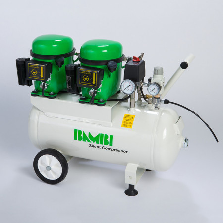 Bambi BB24D Silent Air Compressor with wheels